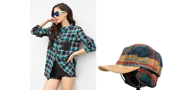 Plaid and Leather Look 1