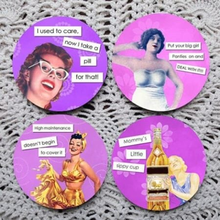 Coasters with ladies