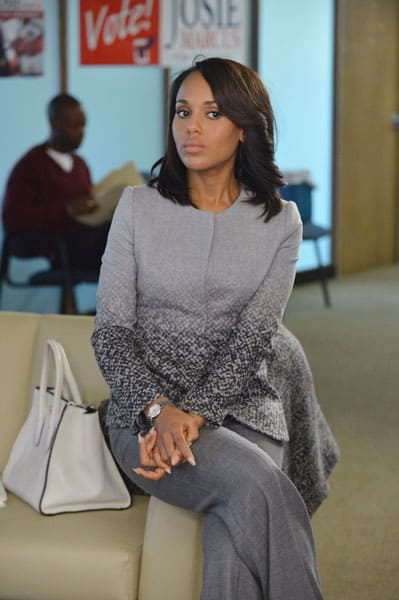 Olivia Pope wearing gray