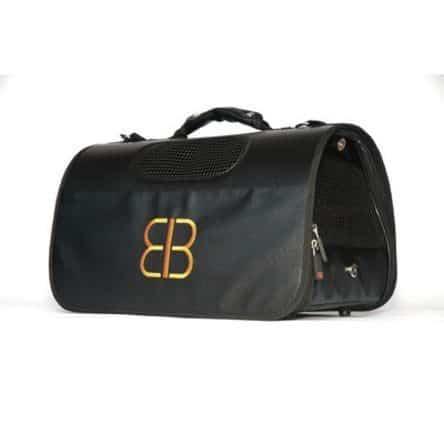 simple black pet carrier