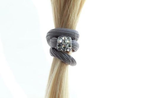 Ponytail holder with Swarovski crystals