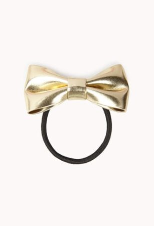 Metallic gold hair ribbon