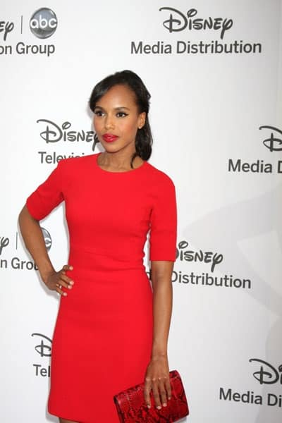 Kerry Washington in red dress