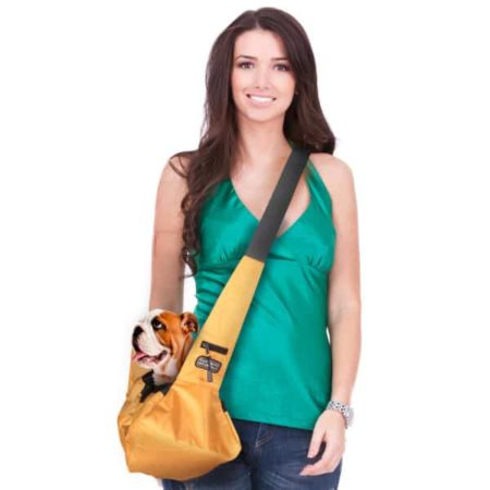 Sling style pet carrier