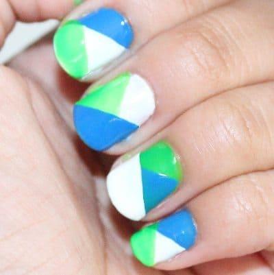 Color Blocked Manicure