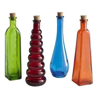 glass bottles for home decor