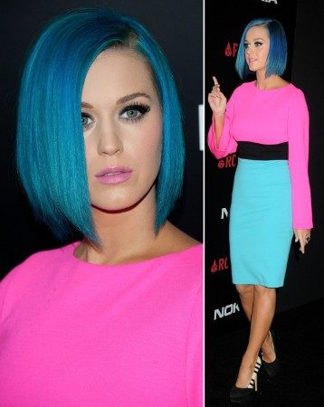 Katy Perry color blocked outfit