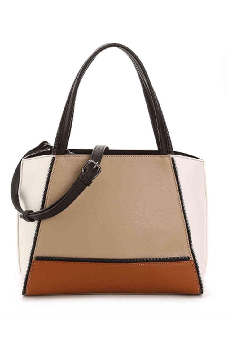 Colorblocked shoulder bag