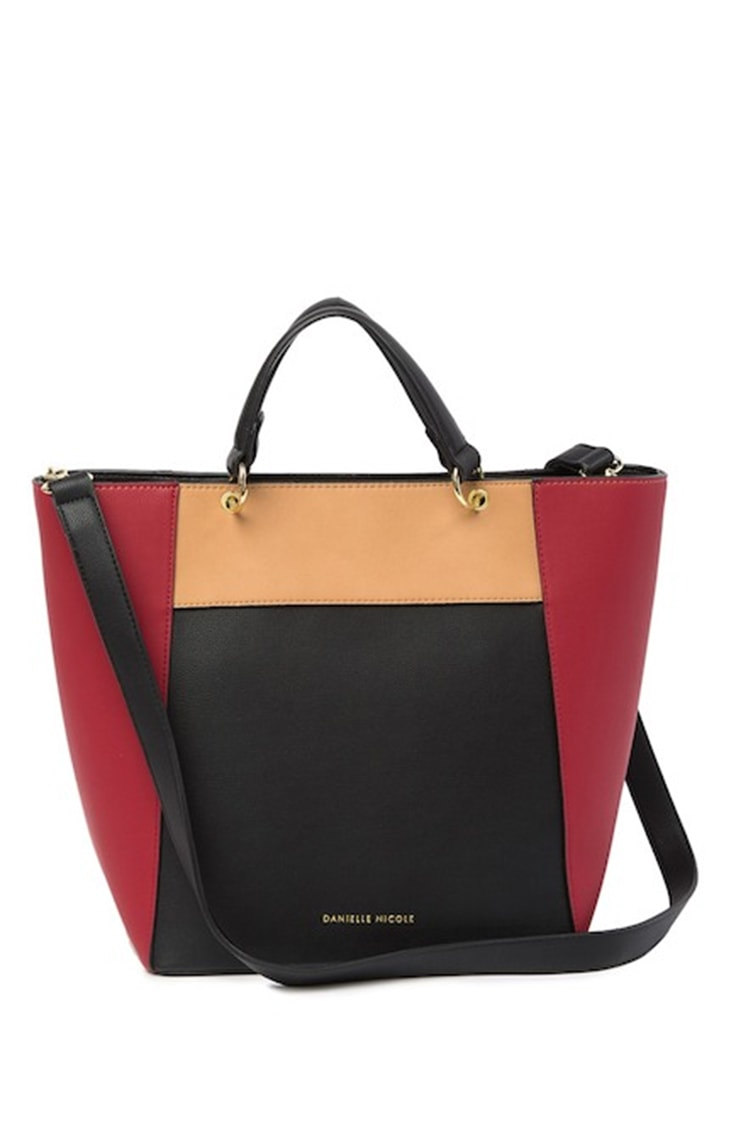Colorblocked tote bag