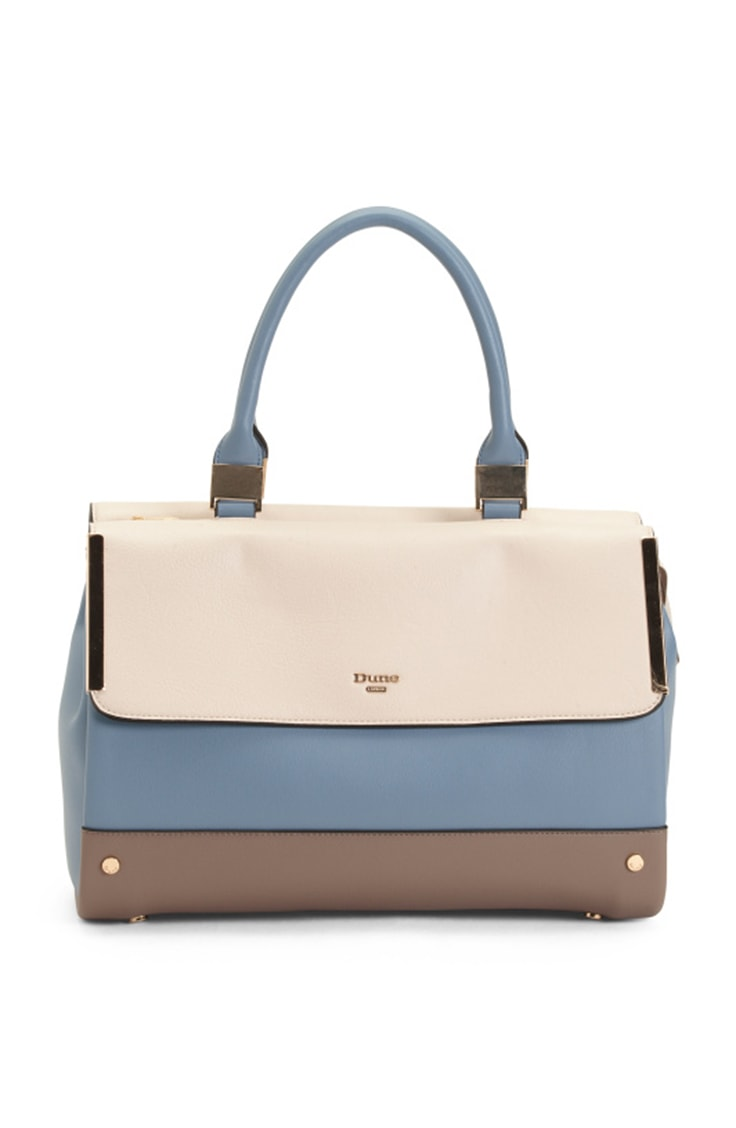 Colorblock satchel