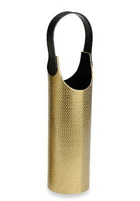 Diamonds Wine Tote in Gold