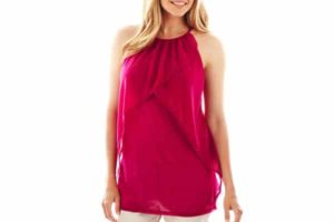 Worthington Tiered Mesh Tank Top
