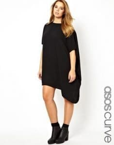 Drapey black dress from ASOS