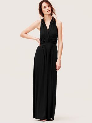 Crossover Halter Maxi Dress