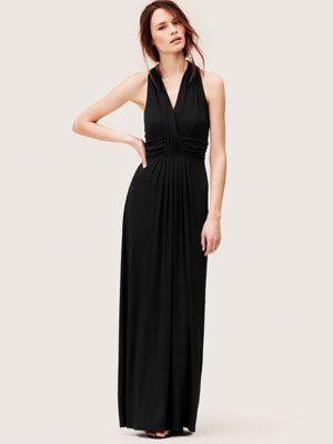 Crossover Halter Maxi Dress