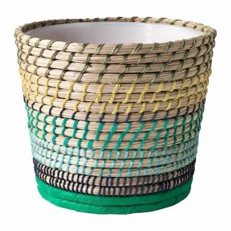 Basket style flower pot