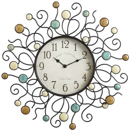 Sun themed clock