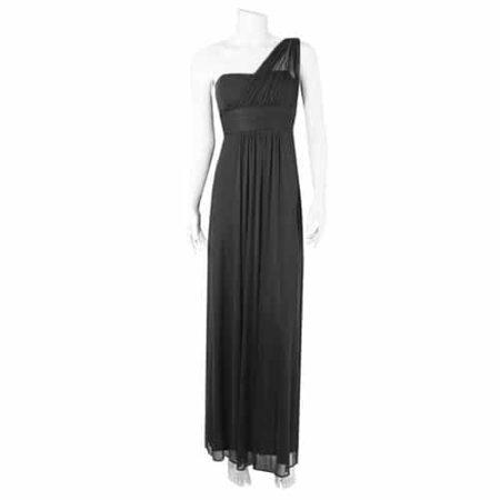 Black one-shoulder bridesmaid dress