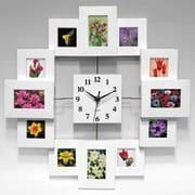 Clock with picture frames