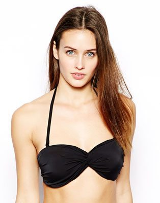 ASOS Mix and Match Twist Bandeau Fuller Bust Bikini Top D-F