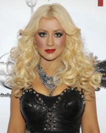 Christina Aguilera at Topshop