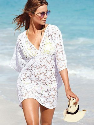Double-V Lace Cover-up