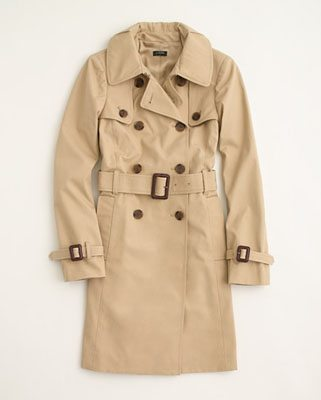 Factory Belted Trench