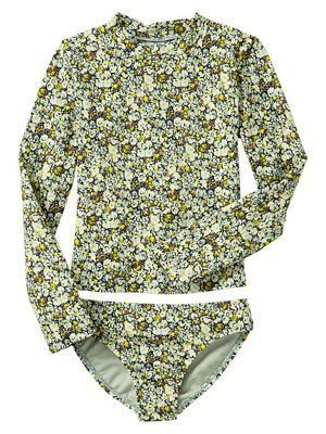Floral Rashguard Two-Piece