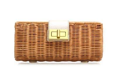 Havana Clutch in Natural Gold
