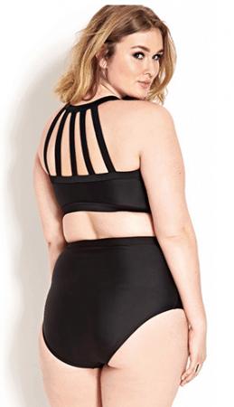 Black strappy bikini