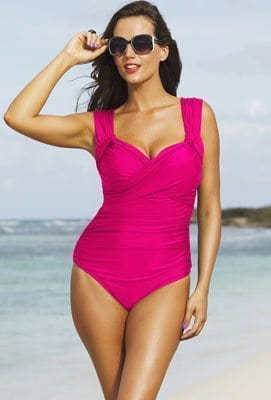 Shore Club Pink Plus Size Crossover Swimsuit