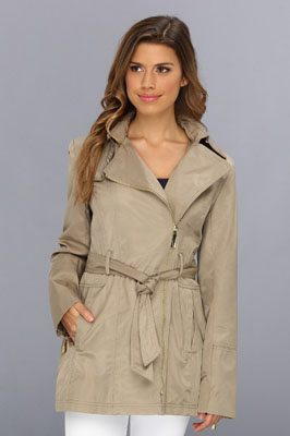 Vince Camuto Zipper Belted Trench F8121