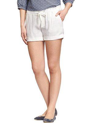 Women's Linen-Blend Shorts