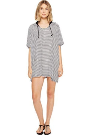 Poncho style swim cover-up