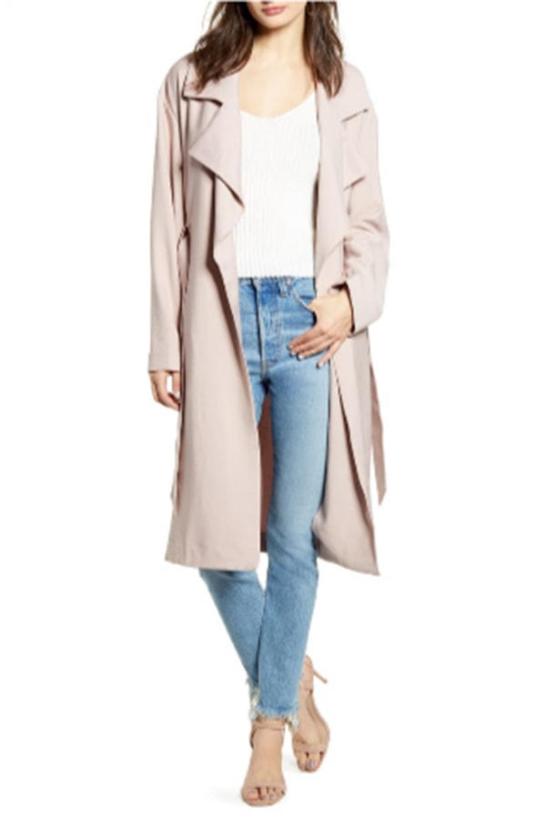 Taupe trench coat
