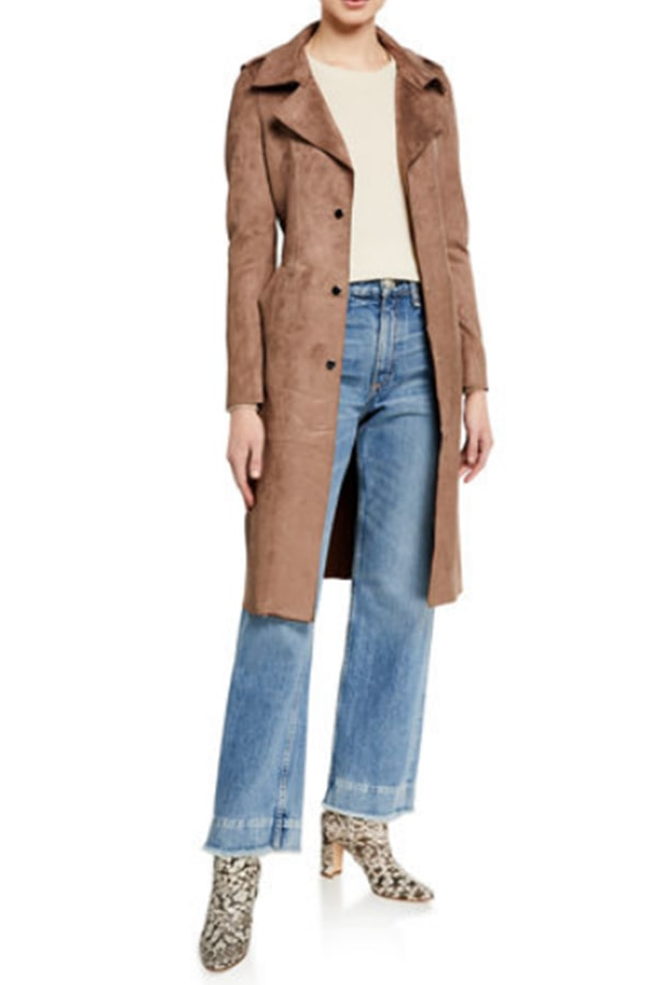 Cognac trench coat