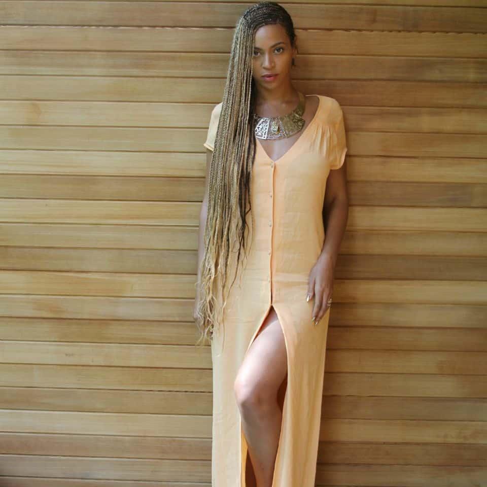 beyonce melon dress