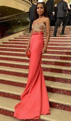 Kerry Washington wearing maxi dress