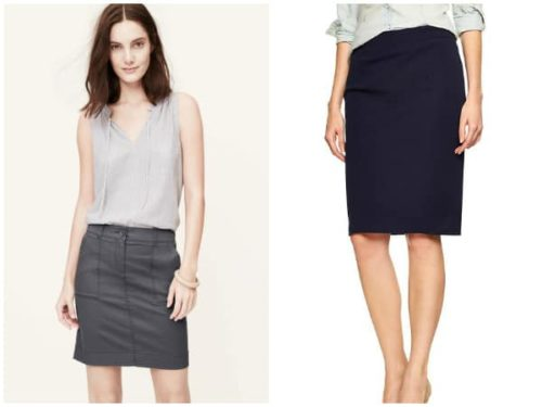 Collage of two skirts