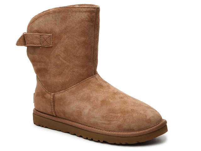 UGG bootie, a great shoe choice for someone with bunions