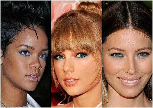Celebs Blue Eyeliner