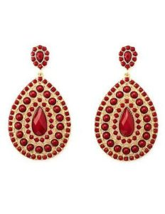 faceted-gem-medallion-drop-earrings