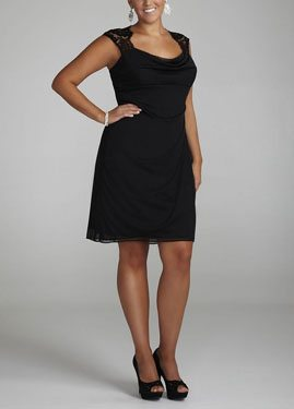 Lace Cap Sleeve Dress with Side Ruffles