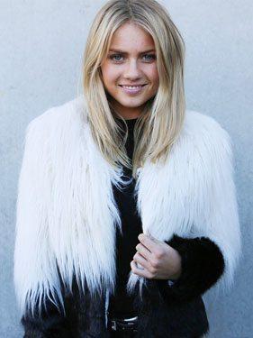 Two Tone Shaggy Faux Fur Coat