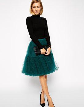 ASOS Full Midi Tulle Skirt