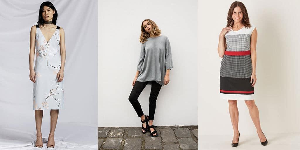 Collage of three Aussie fashion labels