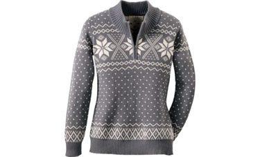 Cabela's Women's Snowflake Fairisle Mock-Neck Sweater