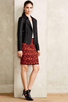 Jacquard Sweaterknit Pencil Skirt