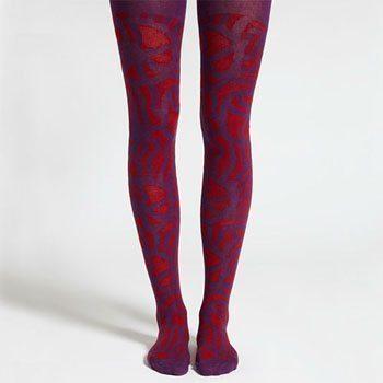 Marimekko Jau Red and Purple Tights