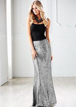 Venus Sequin Maxi Skirt